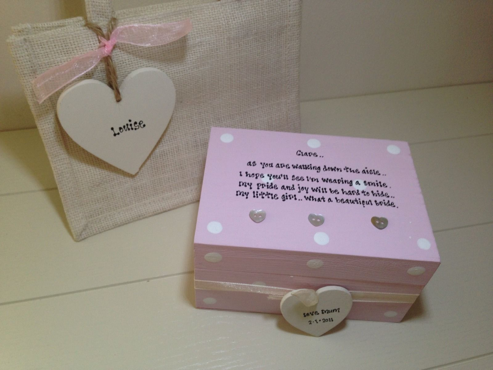 Shabby Personalised Chic Gift For The Bride From Mum Daughter ...